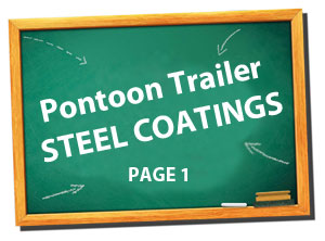 pontoon trailer steel coatings