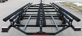 Pontoon trailers 101 triple tube pontoon trailers page 2 for Ice castle fish house weight